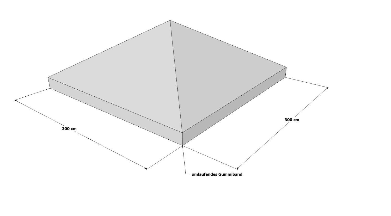Schutzhaube für Pavillon 3x3 von Grasekamp