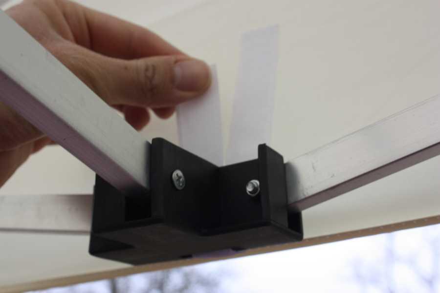 Nexos Faltpavillon 3x3 Aufbauanleitung - Klettverschluss Mittig