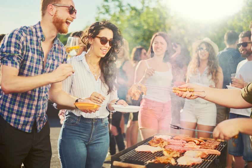 Sommerfest im Faltpavillon